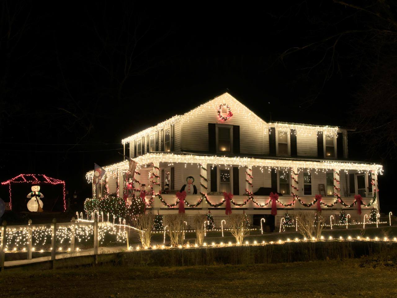 residential gallery long island christmas light installation - Decorating With Colored Christmas Lights