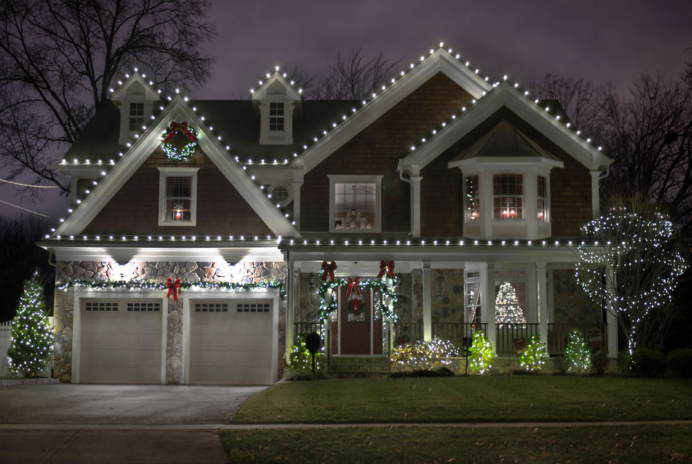 christmas holiday light installation