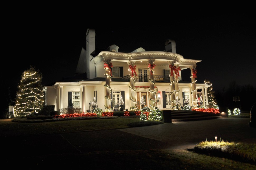 outdoor christmas light installation house custom design free installation holiday lights residential light installation long island