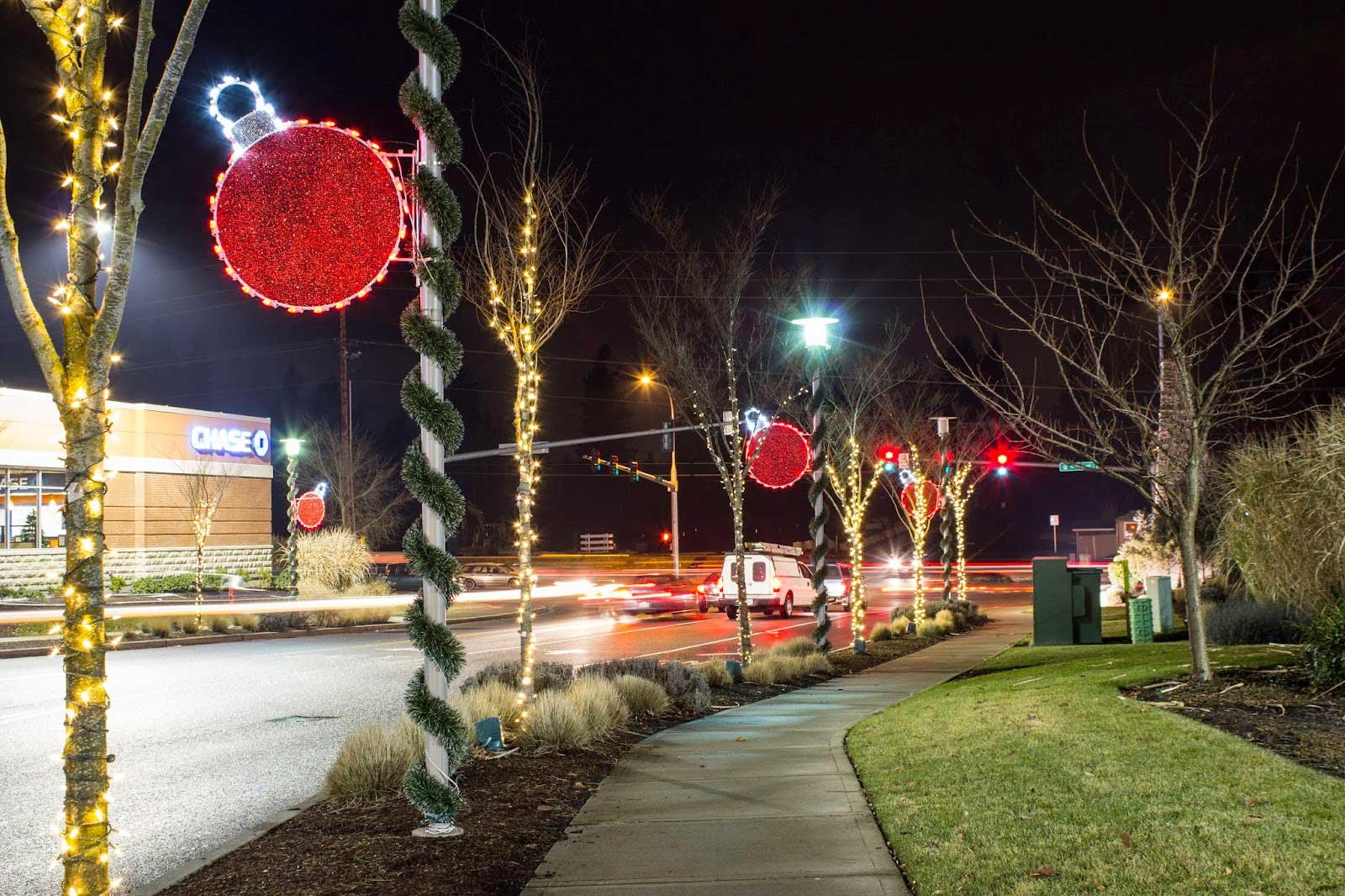 mercial christmas decorations light pole banners